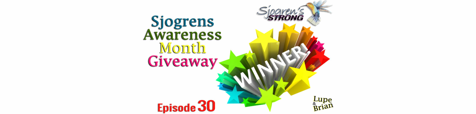 Sjogren's Awareness Month Giveaway, Winners!